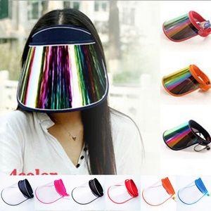 UV protection sun hat Fashion Unisex sunhat Anti-spray Empty top hat 13 colors 2020 Summer Outdoor Travel Visors caps Z0980