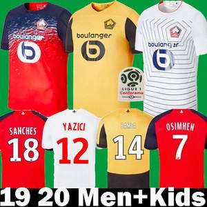 2019 Renato Sanches Yazici Camisetas de fútbol LOSC Lille 19 20 Maillots para niños Osimhen Weah André Bamba Rémy Araujo Bradari Camisetas de fútbol