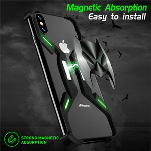 Metal Noctilucent Batman Magnetic Frame For Apple Iphone 7 8 Plus X XR XS MAX Aluminum Shockproof Phone Case Cover Bumper Funda