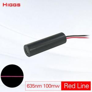635nm 100mW rote Linie Lasermodul Linienbreite einstellbar Stahl Holzschneidmarkierung Locator Welding Laser Scanning Emitter