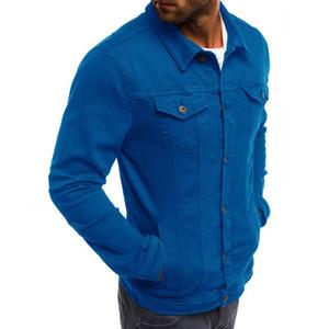 Chegada Nova Mens Jackets Mens Sólidos Brasão Cor Tooling Casual alta qualidade para homens tamanho M-3XL
