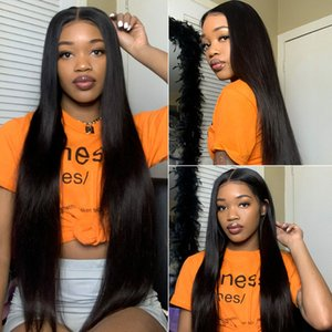 360 Straight Lace Front wigs Pre Plucked Natural Hairline Glueless Brazilian 360 Human Hair wigs For Black Women With Baby Hair