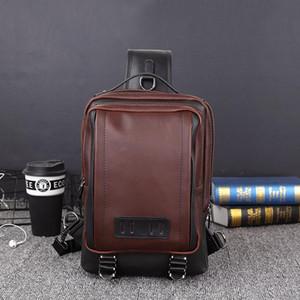 eğilim erkek çanta boş bir omuz eğik çantası açık hava spor göğüs sokak büyük kapasiteli gelgit çanta 2019 versiyonu