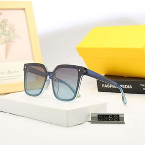 DIFEN F Letter мужские дизайнерские солнцезащитные очки бренд солнцезащитные очки Man Beach Goggle очки UV400 V буквы 3952 5 Цвет высокое качество с коробкой