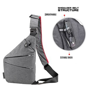 Men's Messenger Bag Oxford Burglar Wearable Bag Multifunctional Solid Durable Outing H7JP