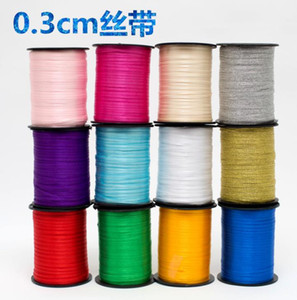 0.3cm thin ribbon 80m colorful Satin ribbon silk yarn thread line wedding bookmark rope Phnom Penh gold silver onion yarn gift packaging