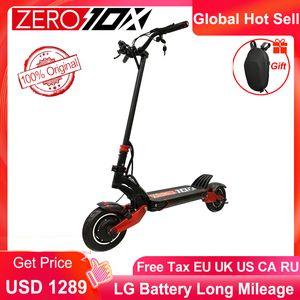 Mais novo zero 10x scooter dupla motor elétrico scooter 52V 2000w e-scooter 65km / h duplo drive de alta velocidade scooter fora estrada