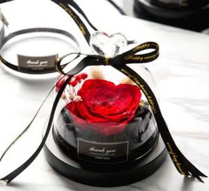 Regalo di giorno Conservato San Valentino regalo esclusivo Rose In cupola di vetro con gli indicatori luminosi Eterna reale della Rosa della mamma