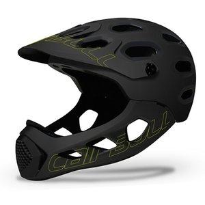 capacete ultraleve Cross-country montanha de bicicleta Capacetes Man completa coberto MTB Down Hill completa Rosto Capacete Inte-moldado BMX Capacete de Ciclismo
