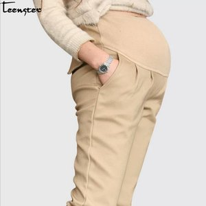 Teenster Pregnancy Maternity Clothing Maternity Support Pants Premama Trousers Casual Clothing Work Clothes for Pregnant WomenMX190910