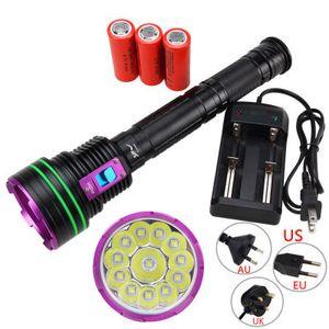 15000 Lumen 12 leuchten L2 Tauchen hohe Leistung starken hellen Taschenlampe Totalen König 12 L2 Lichter