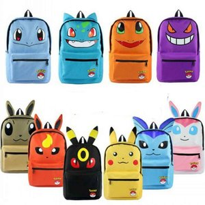 Sac à dos en toile Cartable Bookbag Expression Besace Evoli Umbreon école Satchel enfants Cartoon oreilles Rucksack Sac à dos