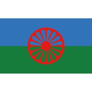 Zigeuner Flagge Romani Völker Flagge 3x5FT 150x90 cm Druck Indoor Outdoor Hängen Flagge Mit Messing Ösen kostenloser Versand