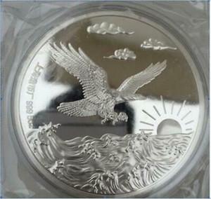 99.99% Chinese Shanghai Mint Ag 999 5 5oz zodiac Silver Coin~~eagle EH04