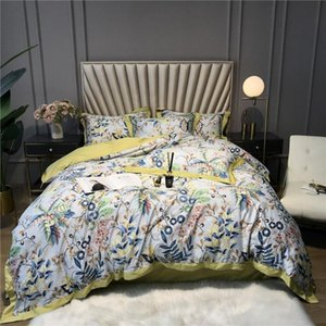 4 Quality 60S sateen bedclothes 4 pieces nordic duvet cover set queen king size ropa de cama Cotton Bed linen Double sheets
