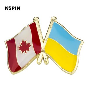 Canada Ucraina Bandiera Distintivo Bandiera Badge Distintivo Pins Distintivi Spilla KS2186