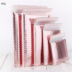 20pcs Rose Gold sprudeln Werbung Umschläge 6 Größe Blase Umschlag Schaumfolie Versand Mailing-Beutel für Geschenk-Umschlag-Verpackung