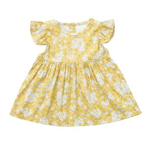MUQGEW 2019 Mais Recente Chegada Moda Vestidos de Verão do bebê roupas de menina Imprimir O-pescoço Vestido Bola Gow Vestido de verão bebek elbise