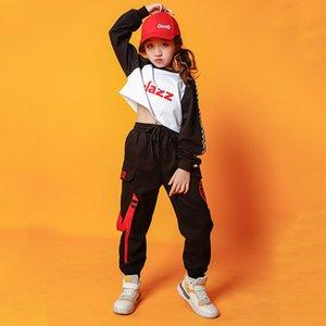 39 bambini Hip Hop Abbigliamento ragazzi di danza in costume per le ragazze Jazz Dance Ballroom Concert Stage Outfit Streetwear