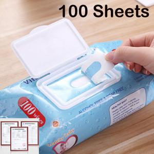 100 risciacquo salviettine umidificate asciugamani puliti Nursing Tissue Protezione Sanitizer Salviette tessuti non tessuti Salviette disinfettanti Toallitas