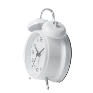 Double Bell Alarm Clock Desktop Mechanical Alarm Mute Clock Bell Gift For Kids -White Other Clocks Accessories