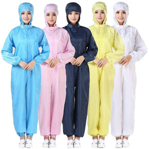 DHL ship Free! Hooded Protective Suit Antistatic Non-woven Thicken Isolation Suit Gown Water Proof Hazmat Suit Dust-proof Coveralls WL4003