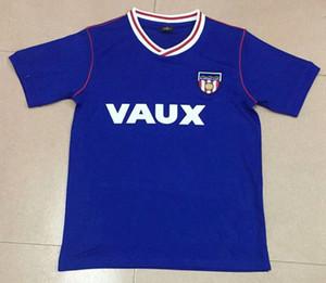 1990 camisola retro de futebol Sunderland 90 casas azuis do vintage clássico camisas esportivas de futebol