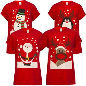 Unisex navidad Camiseta del reno de Santa muñeco de nieve de la novedad Tee Tops