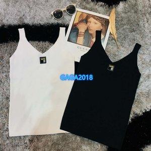 high end женщины девушки футболка топы жилет письмо патч v-образным вырезом без рукавов сексуальная Майка блузка рубашки тройник 2020 мода дизайн роскошный пуловер майки