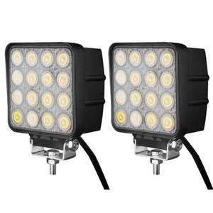 48W 16LED * 3W luz de trabajo LED 4,5 pulgadas Flood viga de punto del coche LED de luz para Off Road USO Funcionan las luces LED para camiones