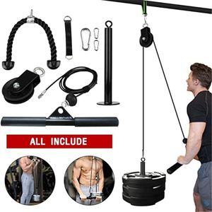 Fitness fai da te Pulley Tv via cavo attacco Forza Sistema Braccio bicipiti tricipiti Blaster mano Trainning casa allenamento di ginnastica attrezzature