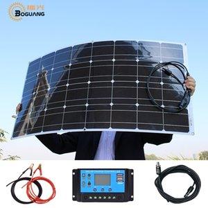 BOGUANG Новая Энергия 16В 100 Вт гибкие солнечные панели монокристаллические 100Вт реальной для RV лодка яхта колесах автомобиля 12V/24V аккумулятор зарядное устройство