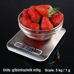 5KG فضة الصلب LCD الرقمية الالكترونية مطبخ طبخ الموازين UK