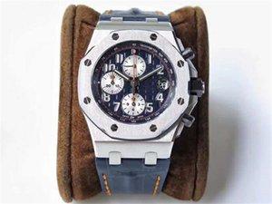 İş Top JF üretim lüks erkek 26470 izle 42mm Özel versiyon 12H zamanlama 3126 hareketi tasarımcı saatler montre de luxe saatler