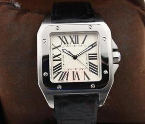 mens calientes de la venta del reloj de blancos automático mecánico del dial de reloj de marcación Plaza Monor Hemmo envío libre esquelético de plata Correa de cuero