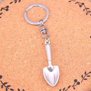 New Fashion Keychain 51mm shovel spade trowel gardening Pendants DIY Men Jewelry Car Key Chain Ring Holder Souvenir For Gift