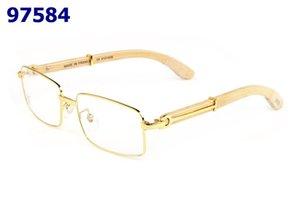 Temizle Çerçevesiz Gözlükler Çerçeveler Erkekler tasarımcı optik çerçeveleri net gözlük yarı kare güneş gözlüğü süper Kare kare takılar mens yıldız rim