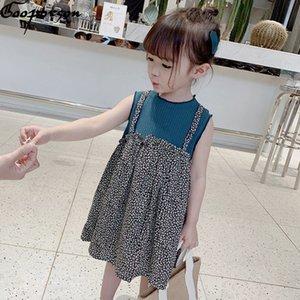 Gooporson enfants Robes pour les filles d'été sans manches robe de princesse Vestidos Fleur mignonne Costume coréenne Vêtements de bébé fille
