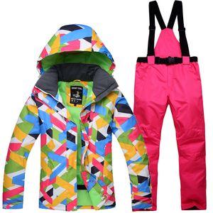 10K leader sales winter jacket female ski jacket and pants outdoor single ski suit 10000 waterproof windproof warm suit