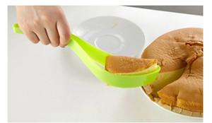 البلاستيك كعكة سكين من قطعة واحدة قطع كعكة القاطع القطاعة عن الاحتفال بعيد ميلاد الخبز لوازم مطبخ أداة OOA7280-2