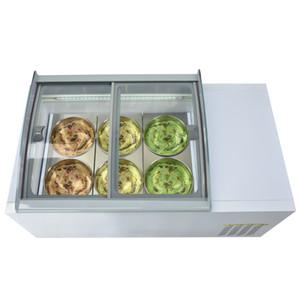 Kolice столешницы дизайн 6 барабанов мороженое морозильник витрина/прилавок мороженое с морозильной камерой/столешницы замораживатель дисплея мороженного