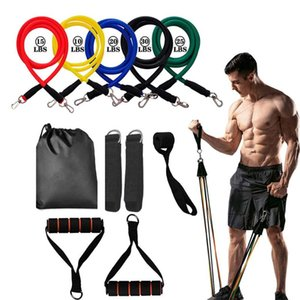 11 Pcs Set Latex Resistance Bands Training Exercise Yoga Tubes Workout Body Training Rubber Expander Elastic Resist Bands