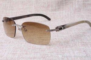 2018 fabricantes de alta calidad producen gafas sin marco, 8.200.759 de diseño único diamante, vasos, mezclados cuerno rectangular gafas de lentes