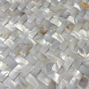 Плетение перламутровая мозаика бесшовные перламутровая задняя панель плитка mop19001 пресная вода Жемчужная раковина ванная комната настенная плитка