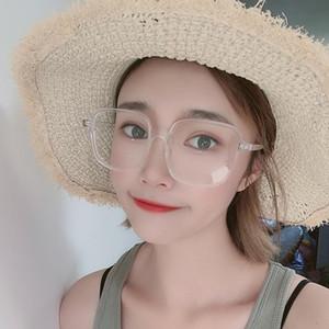 Light Blue bloqueio Computer Glasses Gaming Goggles Big Eyewear Transparente Quadro de Óculos Mulheres Mulheres Mulheres