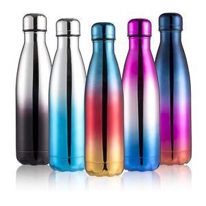 UV Cor 500ml Cola em forma de garrafa de parede dupla com isolamento a vácuo garrafa de água de aço inoxidável Esporte Thermos garrafa de Coca Copos 10pcs CCA11748