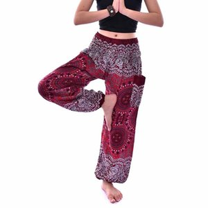 High Waist Loose Yoga Pants 2020 Summer Breathable Lightweight Thai Harem Trousers Bohemian Sports Pants for Men Women
