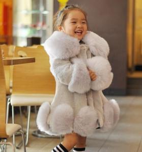 Vendas Hot 2018 nova moda meninas Faux Fur casaco quente Crianças de Inverno Jacket Crianças Tops remendado Fur para a menina