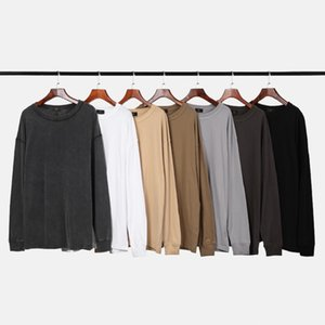 Men's Hoodies & Sweatshirts QoolXCWear High Street Plus Warm Men 2021 Winter Simple Solid Streetwear Harajuku Oversize Hooded Sweatshirt Men