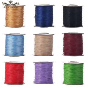Korea 0,5 mm 91 Meter Faden Polyester Cord mit Perlen verziert Gewachste Schnur-Seil für Schmuckherstellung Zubehör Armband-Halskette DIY Makramee Thema